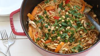One-Pot Thai Peanut Chicken Pasta