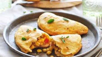Sweet Corn, Red Pepper and Green Chile Empanadas