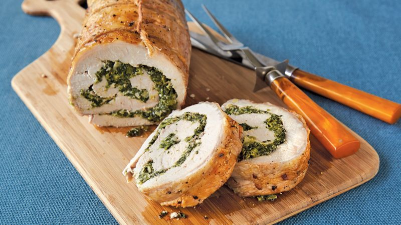 Spinach and Herb Stuffed Pork