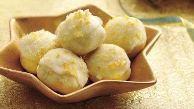 Glazed Orange-Almond Cookies