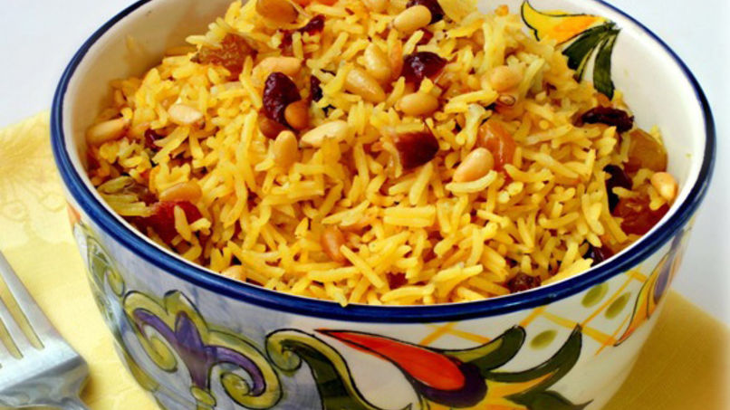 Rice Pilaf with Dried Fruits