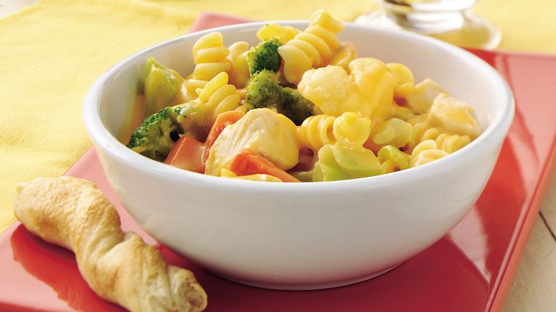 Double-Cheese Chicken and Vegetables