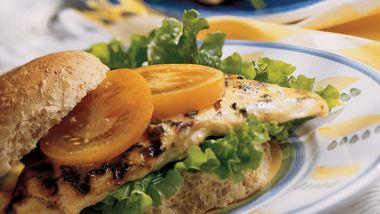 Grilled Honey-Mustard Chicken Sandwiches