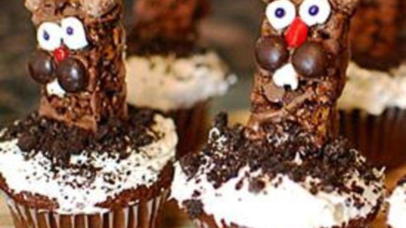 Groundhog Cupcakes