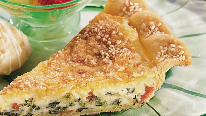 Dotted Swiss and Spinach Quiche