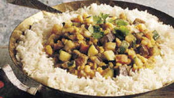 Spicy Split Peas with Vegetables