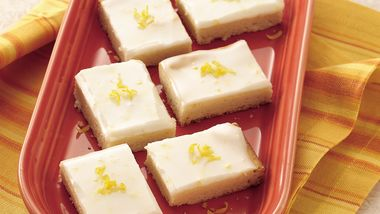Iced Lemon Shortbread Bars