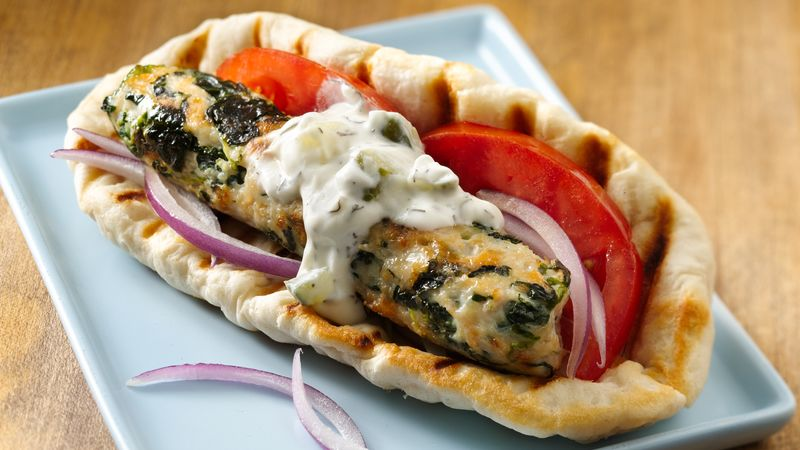 Chicken and Spinach Biscuit Gyros