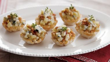Blue Cheese-Apple Tartlets