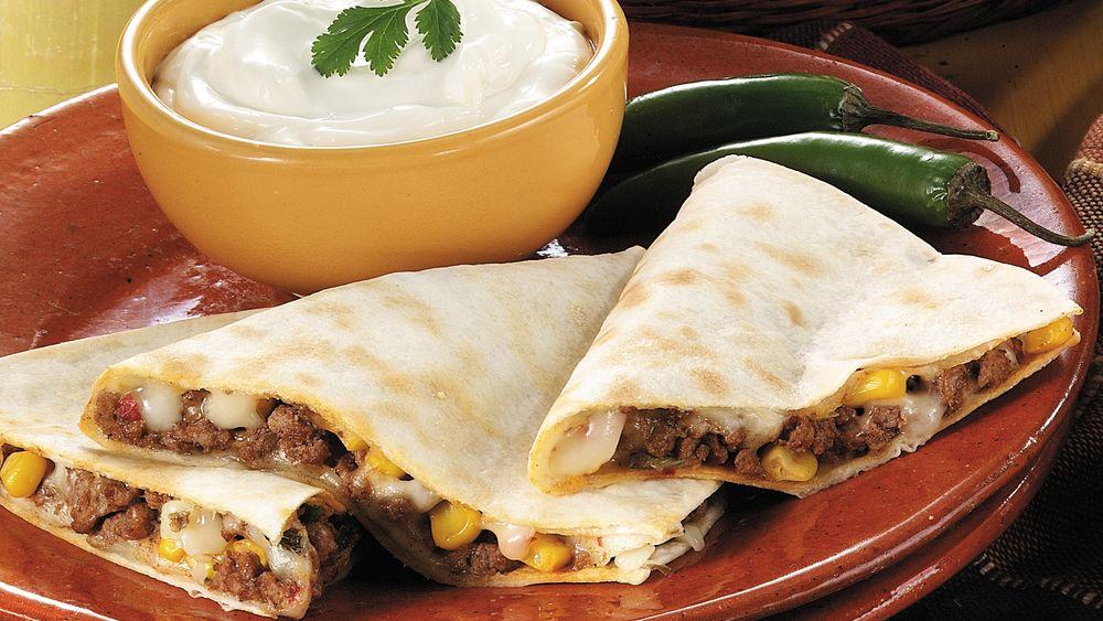 Spicy Beef Quesadillas