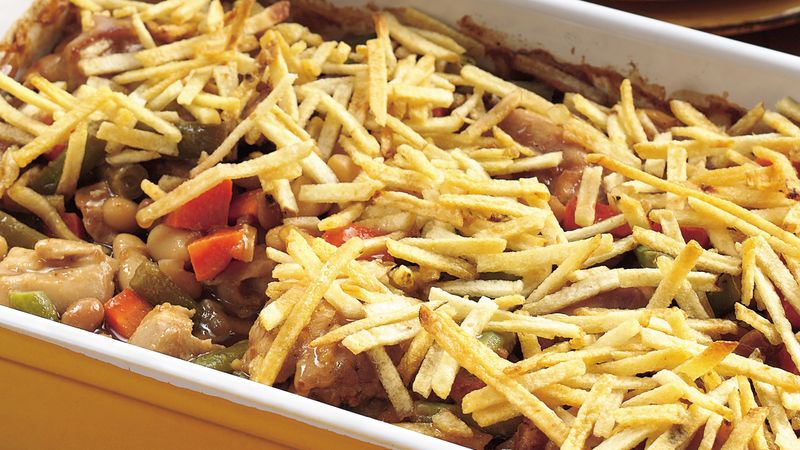 Barbecue Chicken and Bean Casserole