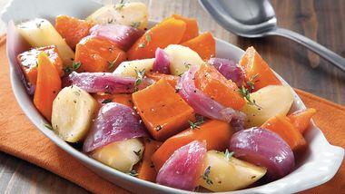 Slow-Cooker Glazed Root Vegetables