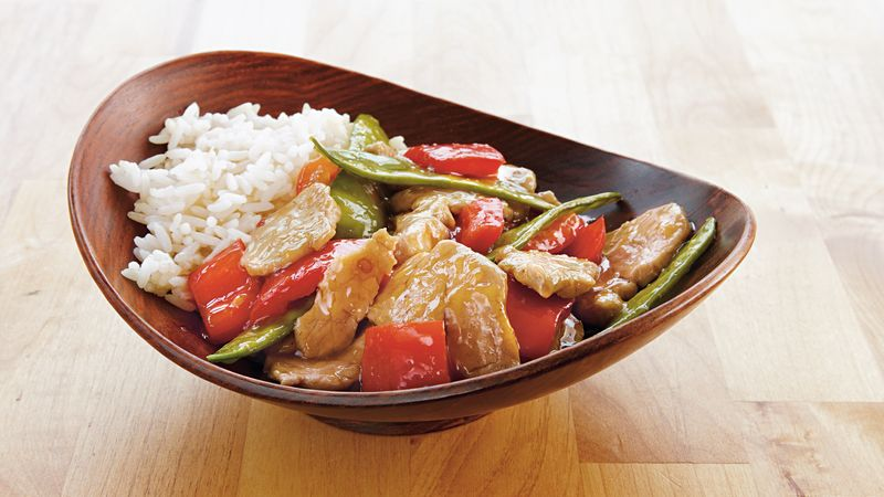 Ginger Pork and Snow Peas