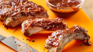 Rosemary Pork Ribs with Tamarind and Chile Guajillo Sauce