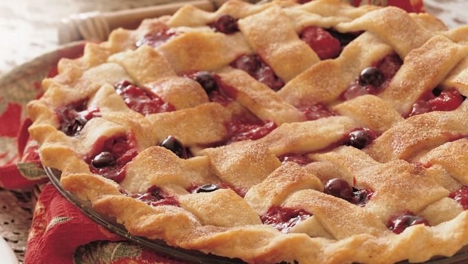 Blueberry Raspberry Lattice Pie