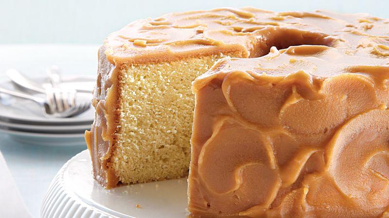 Caramel-Frosted Pound Cake