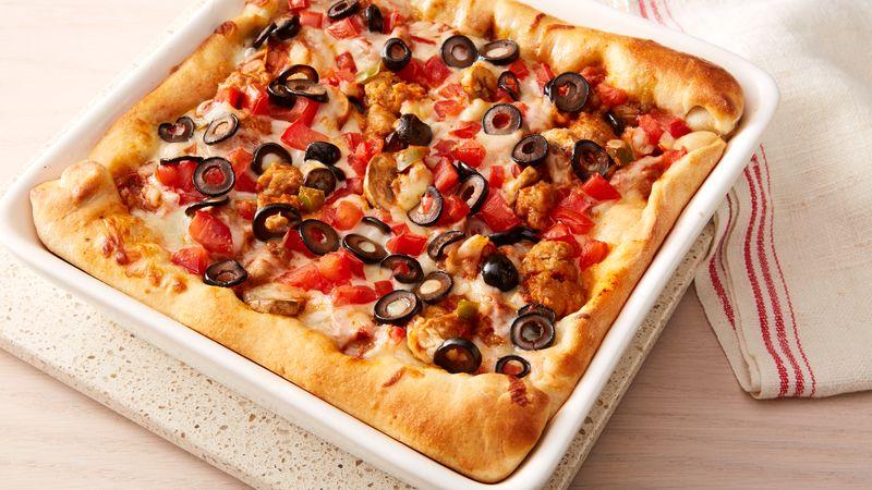 Chicago Deep-Dish Sausage Pizza