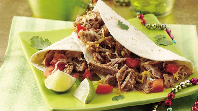 Slow-Cooker Green Chile Pork Tacos