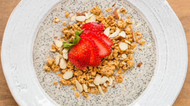 Chia, Fruit and Granola Pudding