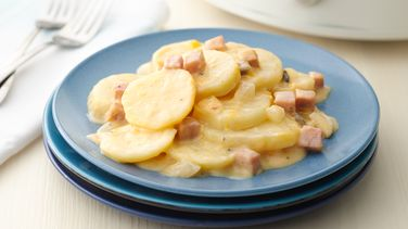Slow-Cooker Cheesy Potatoes and Ham