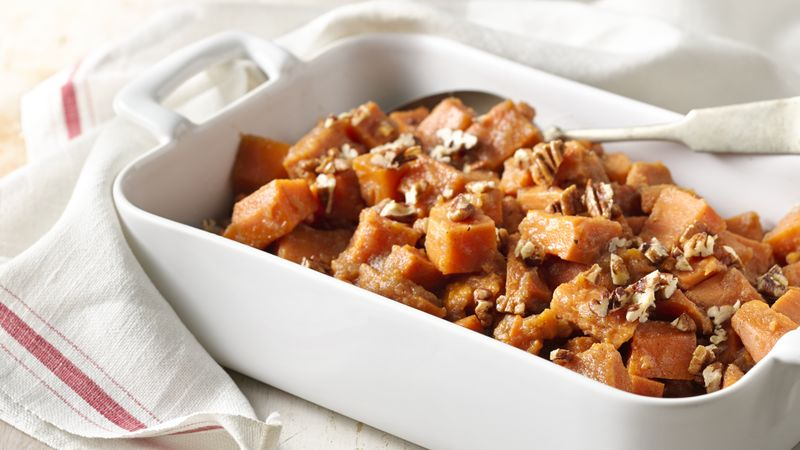 Slow-Cooker Sweet Potatoes with Applesauce