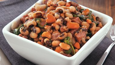 Slow-Cooker Black Eyed Peas and Greens