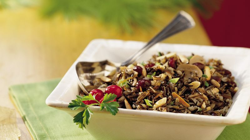 Slow-Cooker Wild Rice with Cranberries