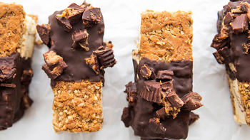 Peanut Butter Explosion Granola Ice Cream Sandwiches