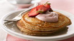 Pancakes de Trigo Integral y Fresas