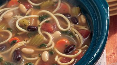 Slow-Cooked Two-Bean Minestrone