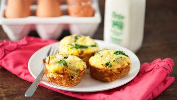 Mini Potato Quiche Cups