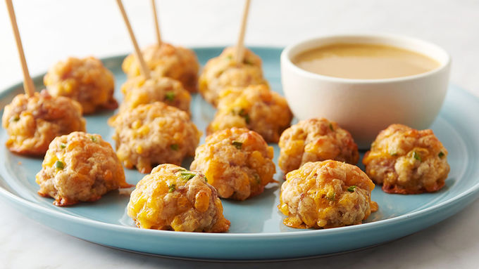 Maple Sausage-Cheese Balls