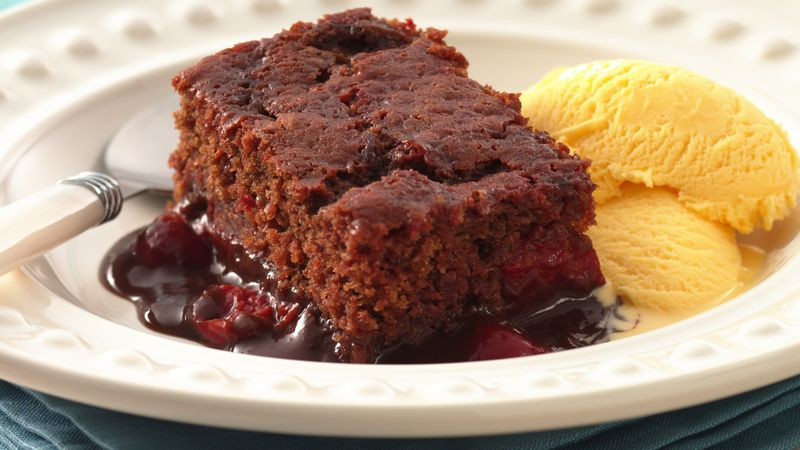 Cherry-Chocolate Pudding Cake
