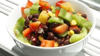 Citrus-Black Bean Salad with Two Peppers
