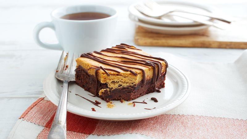 Pumpkin Cheesecake Brownies recipe from Betty Crocker
