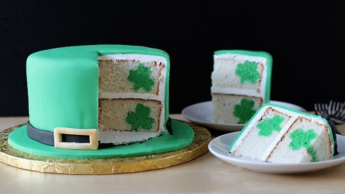 Leprechaun Hat Shamrock Surprise Cake