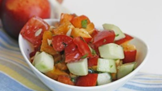 Heirloom Tomato and Nectarine Salad