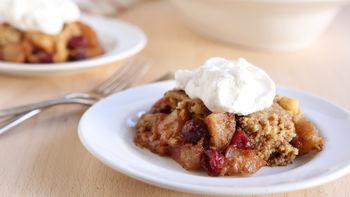 Slow-Cooker Apple-Cranberry Dump Cake