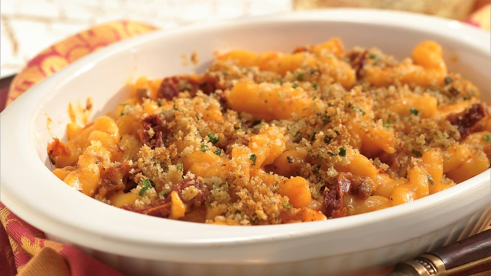 Bacon and Tomato Mac and Cheese for Two