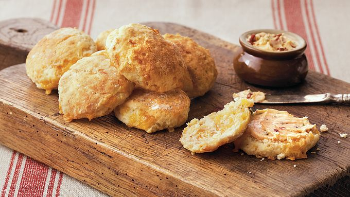 Cheese Biscuits with Chipotle Butter