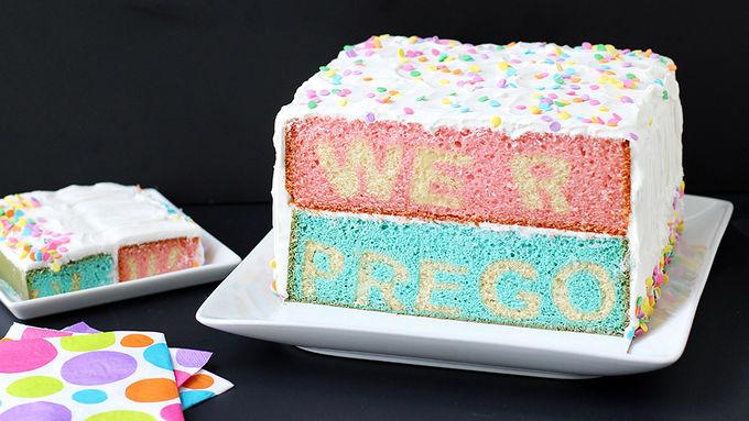 Prego Reveal Cake