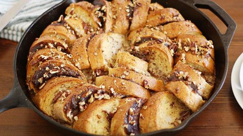 Apple Butter French Toast on the Skillet