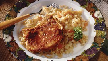 Bavarian Pork Chops and Sauerkraut
