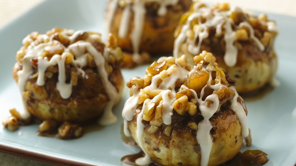 Apple Walnut Sticky Buns