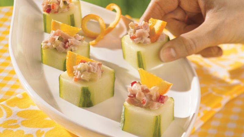 Stuffed Cucumber Snacks