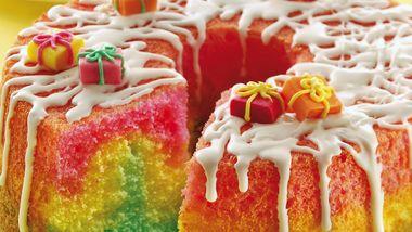 Rainbow Angel Cake