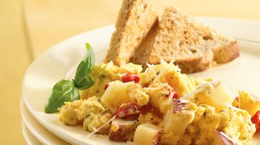Herbed Potato-Egg Scramble