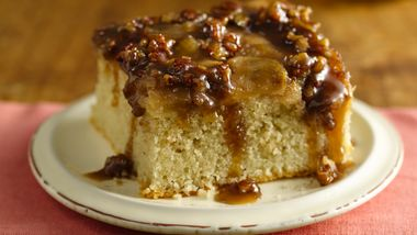 Gluten-Free Warm Caramel Apple Cake