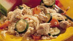Pollo y vegetales con bulgur