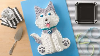 Husky Dog Cake
